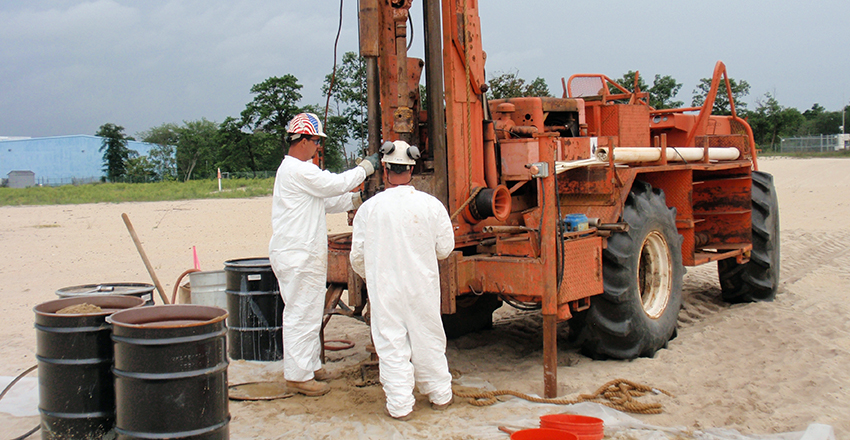 Soil Borings and Monitoring Well Installation, Vineland Chemical Company Superfund Site